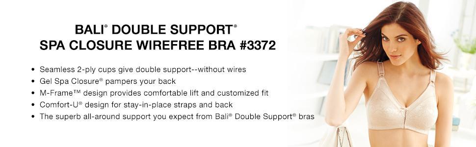 fa98bb479853a Bali Women s Double-Support Spa Closure Wire-Free Bra at Amazon ...