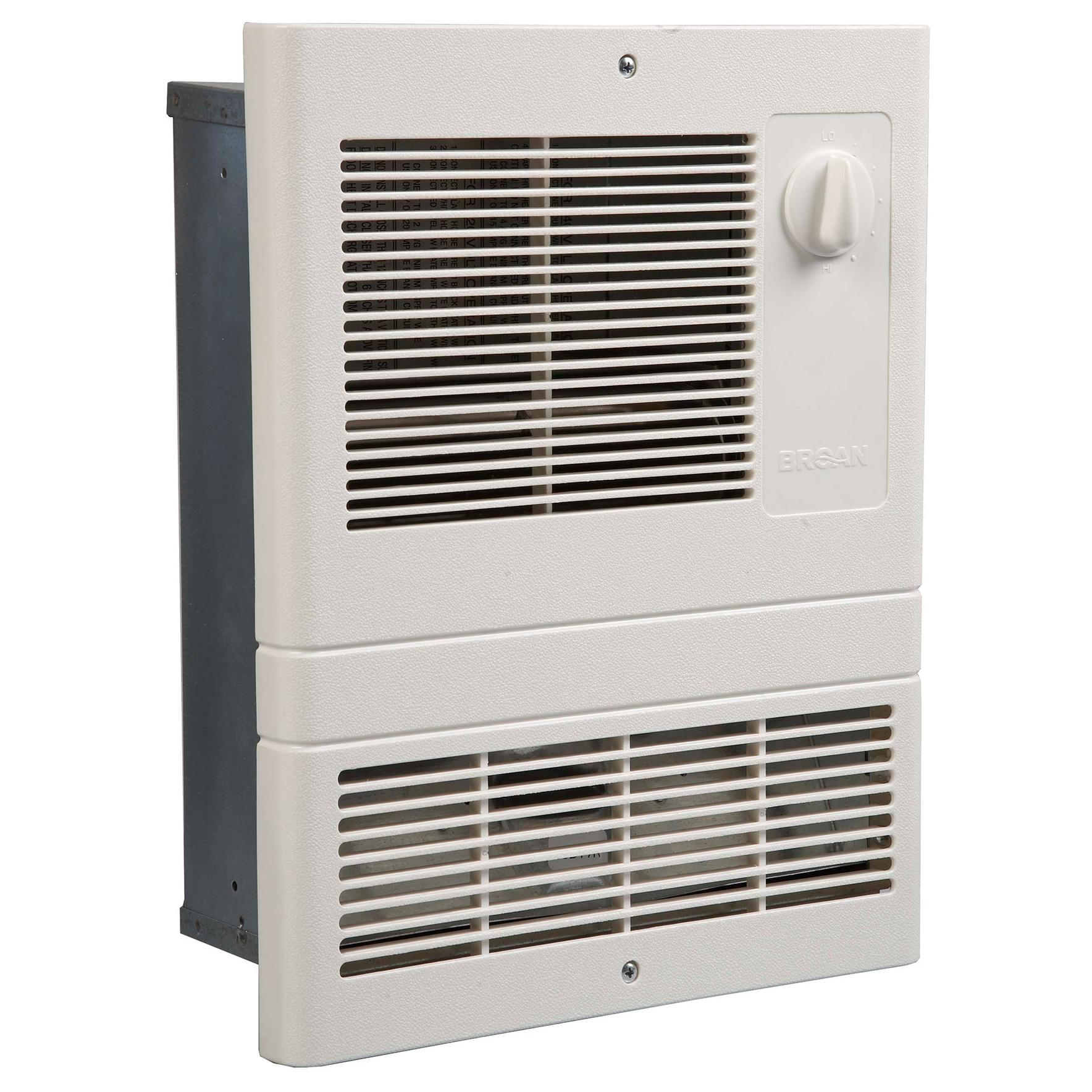 Broan Wall Heater White Grille Heater With Built In
