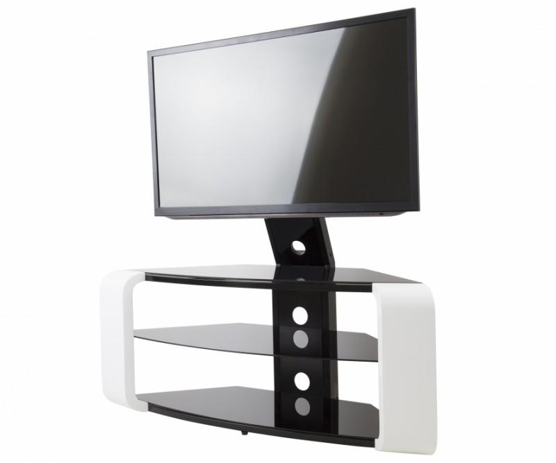 avf fsl1174cogw a como tv stand with tv mount for tvs up to 65 inch gloss white. Black Bedroom Furniture Sets. Home Design Ideas