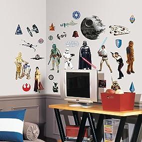 star wars wall decals, star wars wall stickers