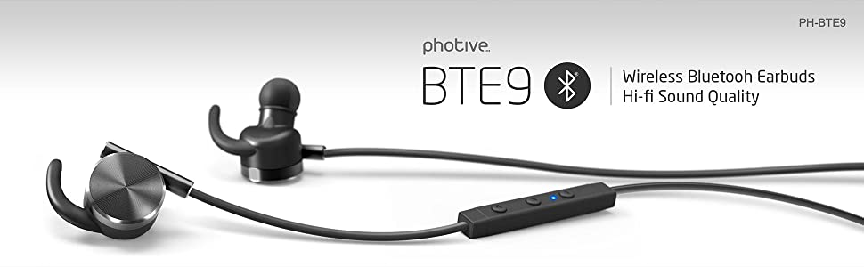 Amazon.com: Photive BTE9 Bluetooth Earbuds Rechargeable