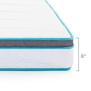 Amazon Com Linenspa 8 Quot Memory Foam And Innerspring Hybrid