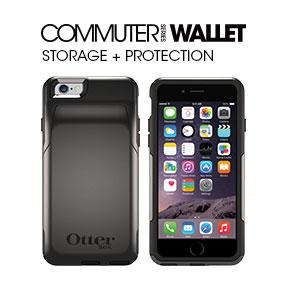 reputable site 06d07 4d04f OtterBox COMMUTER WALLET iPhone 6/6s Case - Retail Packaging - GLACIER  (WHITE/GUNMETAL GREY)