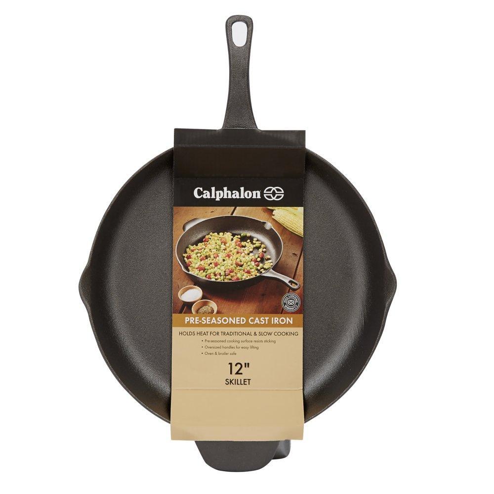Amazon Com Calphalon Pre Seasoned Cast Iron Cookware