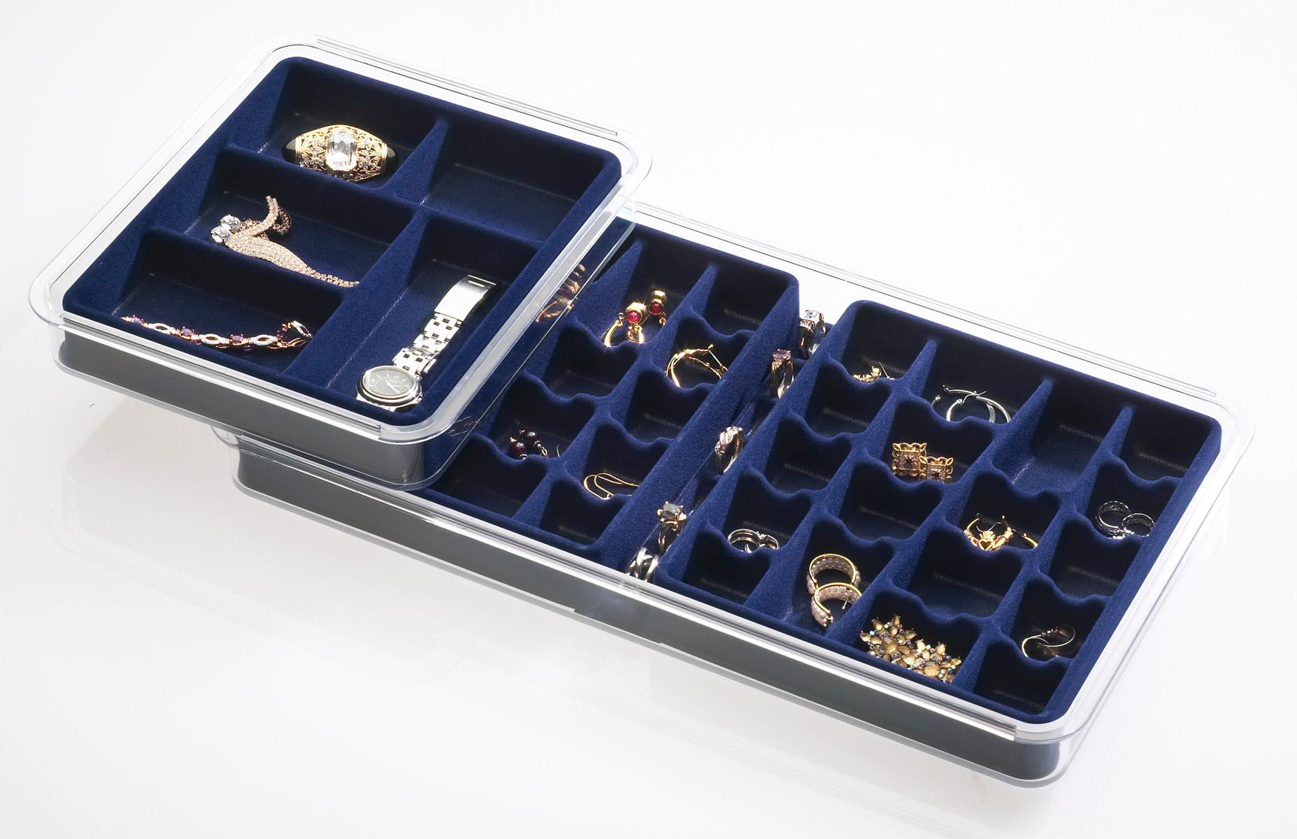 Amazoncom Neatnix Stax Jewelry Organizer Tray 18 Compartments