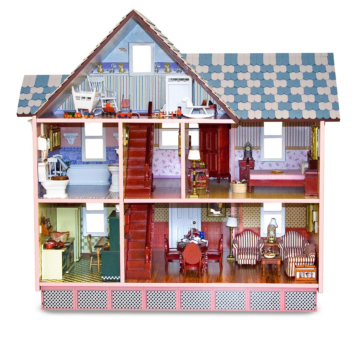 melissa and doug victorian dollhouse furniture