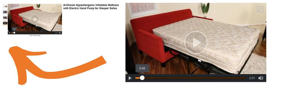 Scroll up for video - Amazon.com: AirDream Hypoallergenic Inflatable Mattress With