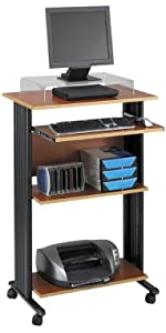 Amazon Com Safco Products Xpressions Glass Top Stand Up Computer