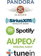 pandora, slacker, sirius, spotify, aupeo, tunein, wifi, radio