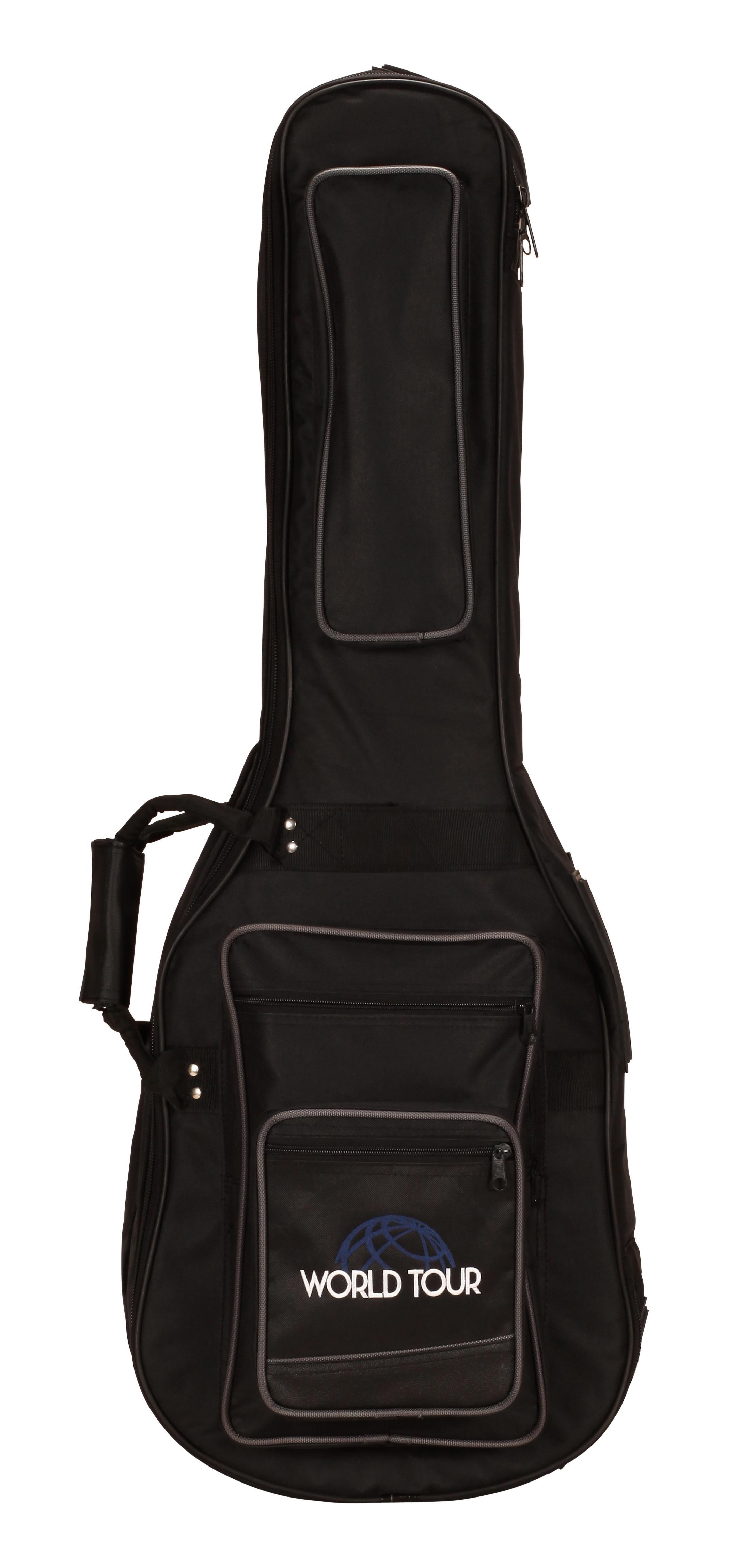 world tour pro double electric guitar gig bag musical instruments. Black Bedroom Furniture Sets. Home Design Ideas