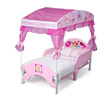 Amazon.com : Delta Children Canopy Toddler Bed, Disney ...