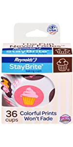 StayBrite, Baking Cups, Muffin, Cupcakes, Reynolds