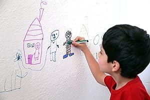 drawing on wall, kid art, bad kid, kid drawing