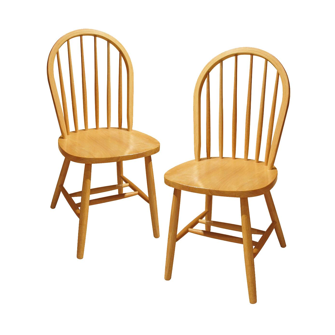 Kitchen Chair Amazoncom Winsome Wood Windsor Chair Natural Set Of 2 Chairs
