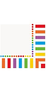 Rainbow Party Luncheon Napkins, 16ct