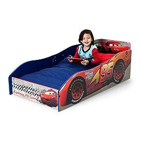 Car Toddler Bed Frame Child Wood Disney Pixar Cars