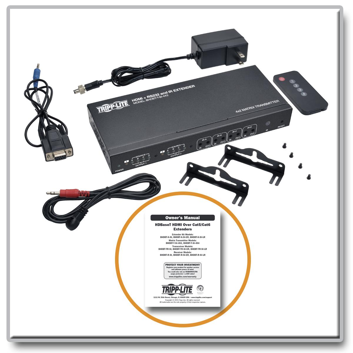 Tripp Lite Hdbaset Hdmi Over Cat5 6 6a Extender Matrix Details About 4x4 Cat5e Cat6 Auto Switch Splitter View Larger