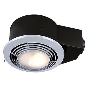 NuTone QT9093WH Heater/Fan/Light/Nightlight, 1500-Watt Heater, 110-CFM