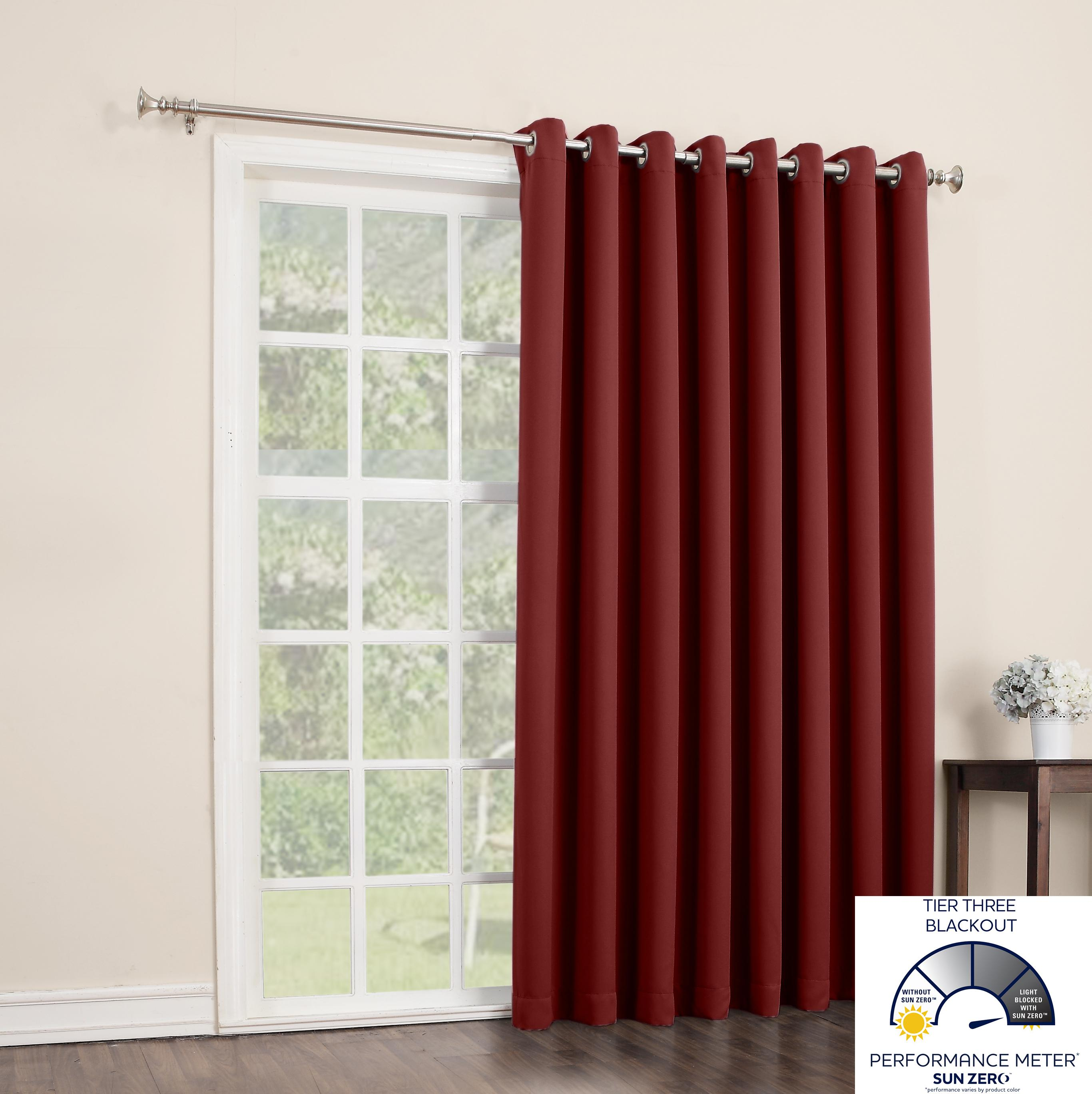 Amazon Com Sun Zero Easton Blackout Patio Door Curtain
