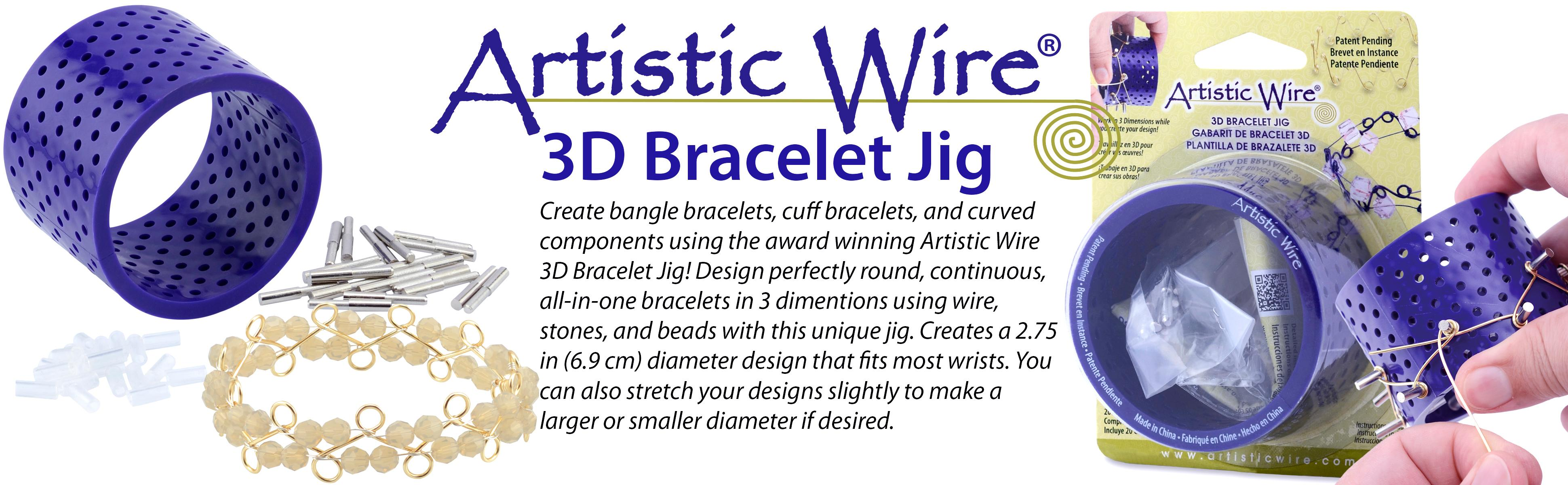 Amazon.com: Artistic Wire 3D Bracelet Jig with 20 Pegs, and Holder ...
