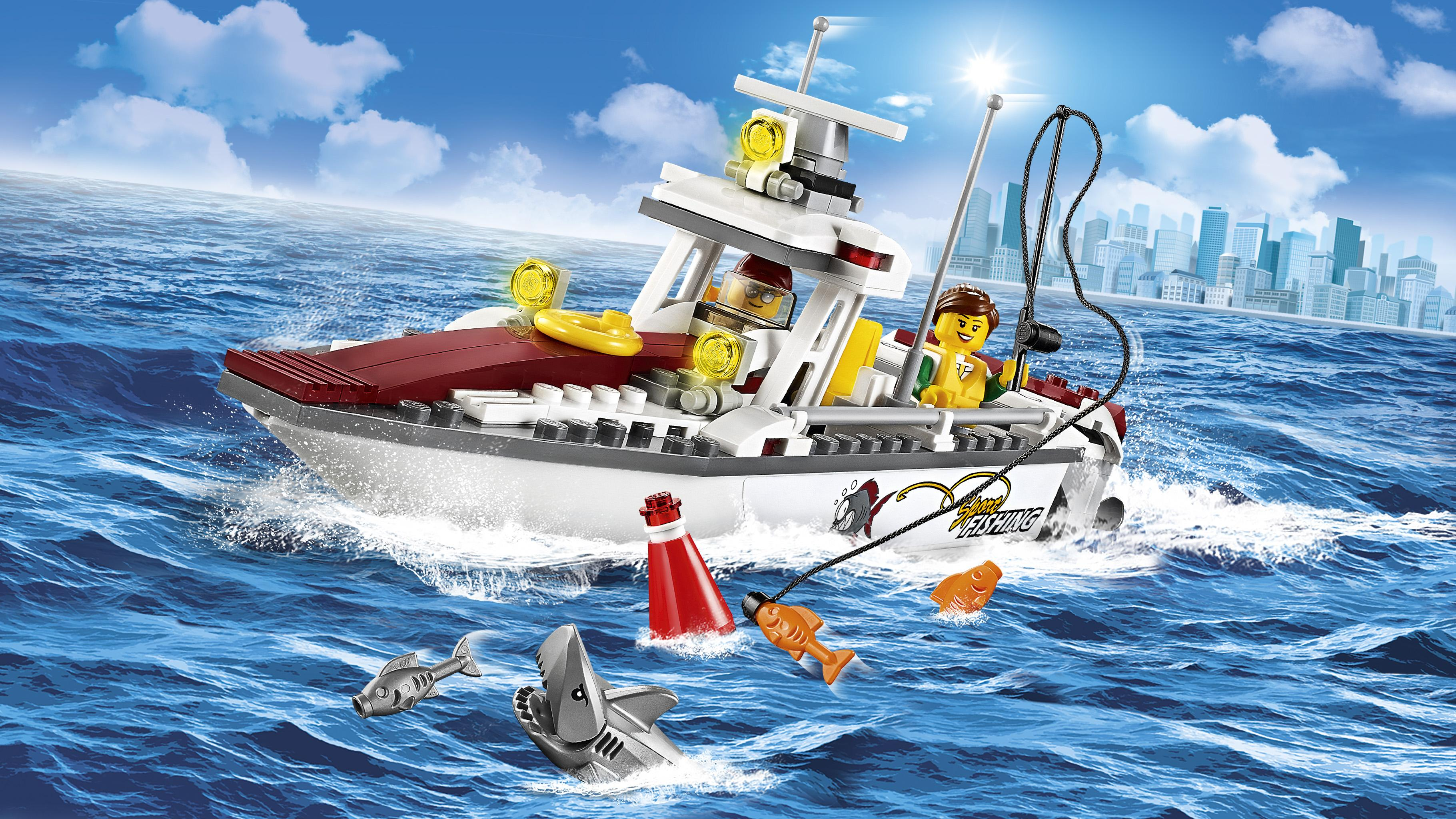 Lego city fishing boat 60147 creative play toy for Ocean city deep sea fishing