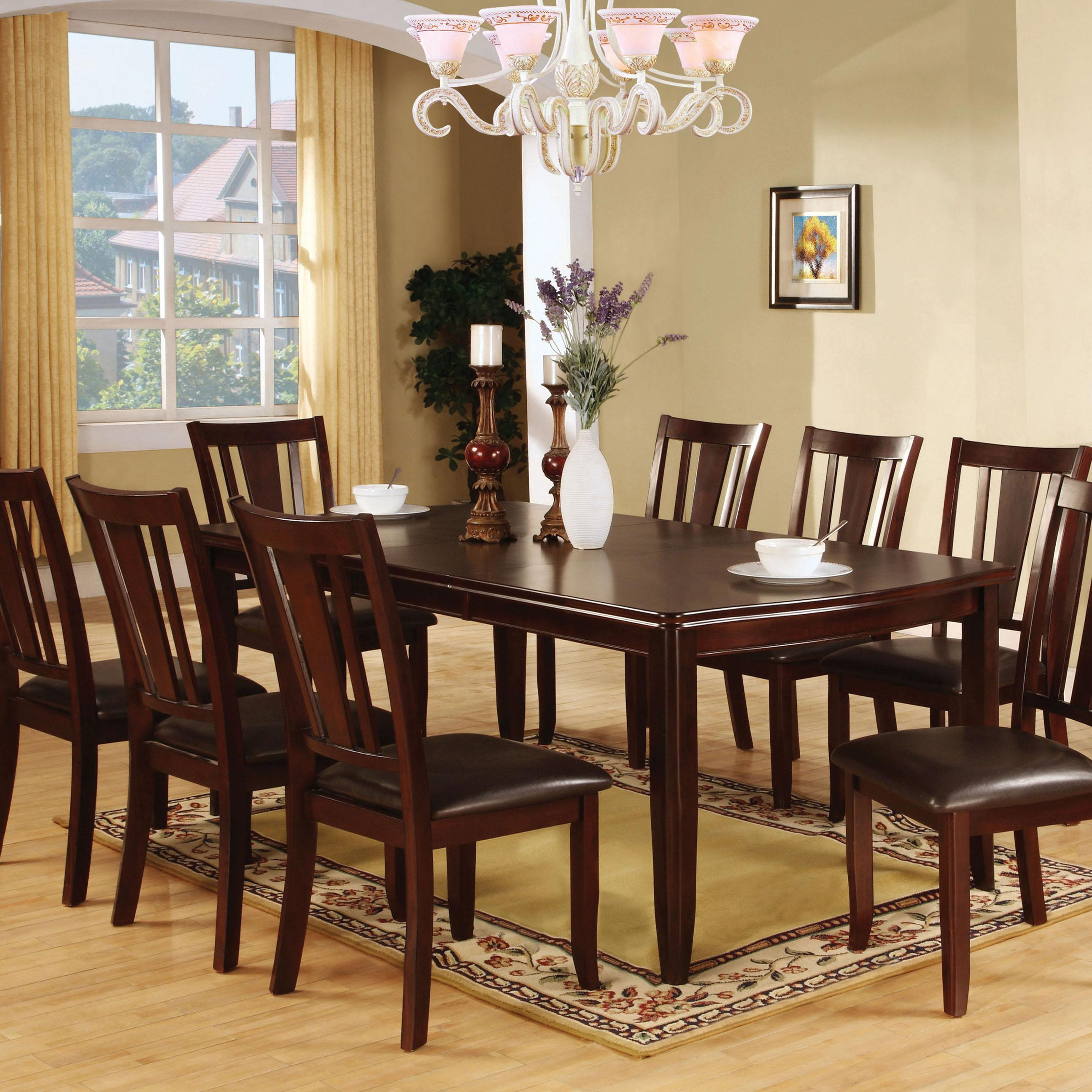 dining room table set. View Larger Amazon Com  Furniture Of America Frederick 9 Piece Dining Table Set