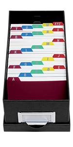 Oxford Tabbed Index Card Guides