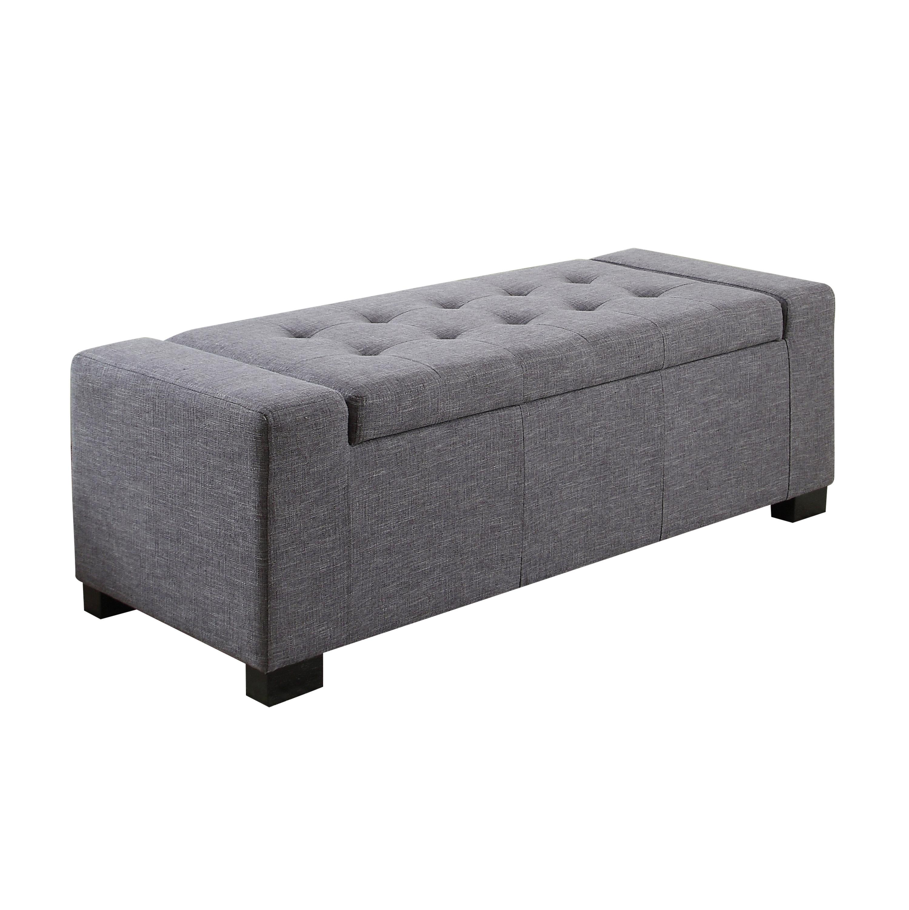 Amazon Com Simpli Home Laredo Rectangular Storage Ottoman