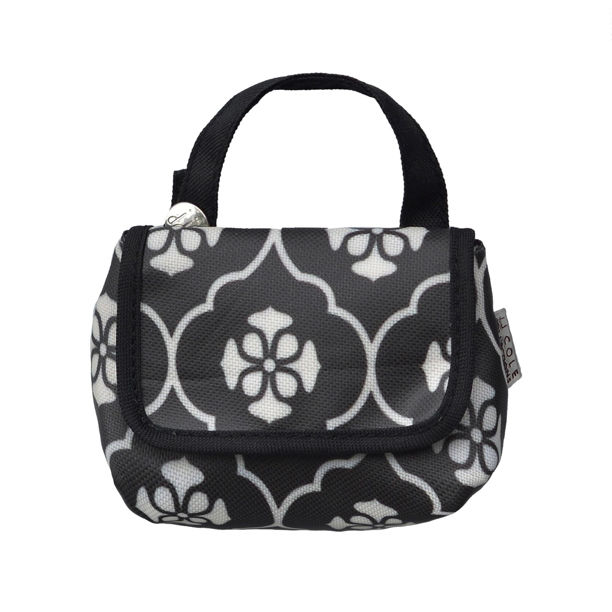 jj cole parker diaper bag black floret baby. Black Bedroom Furniture Sets. Home Design Ideas