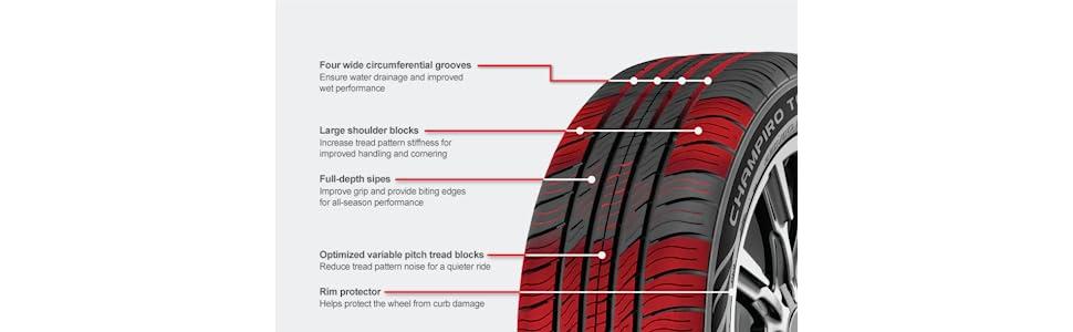GT Radial CHAMPIRO TOURING A//S all/_ Season Radial Tire-235//65R16 103T