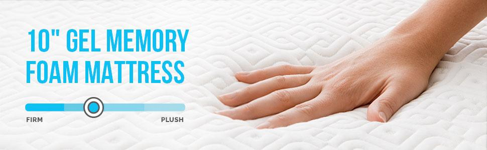 Amazon Com Lucid 10 Inch Gel Memory Foam Mattress