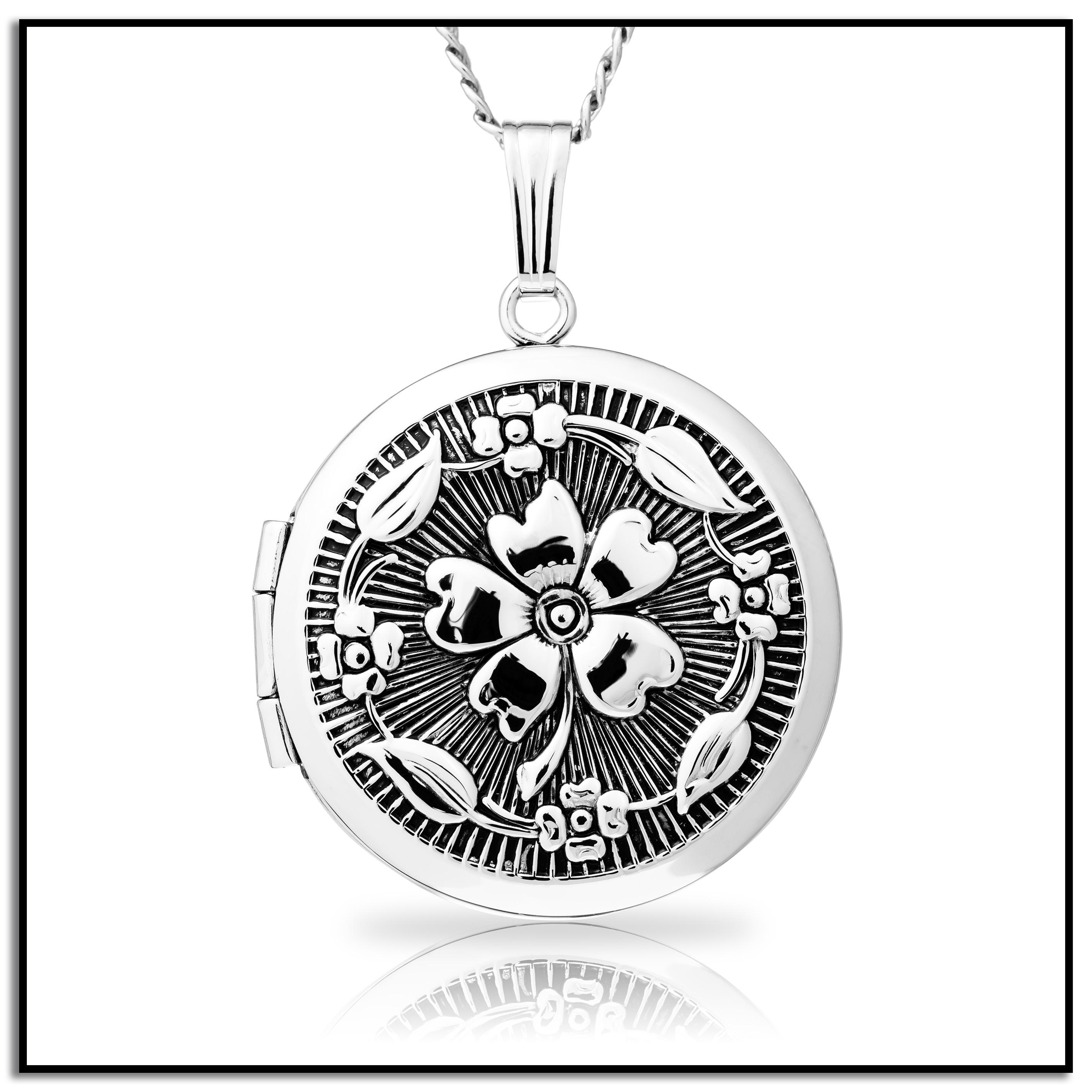 sterling four leaf samuel lockets h locket d webstore silver product number family
