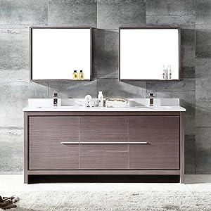 Fresca Bath Fvn5024wh Quadro Pedestal Vanity Sink With