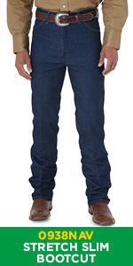 Wrangler Boot Cut Stretch Slim Fit Jean 0938NAV