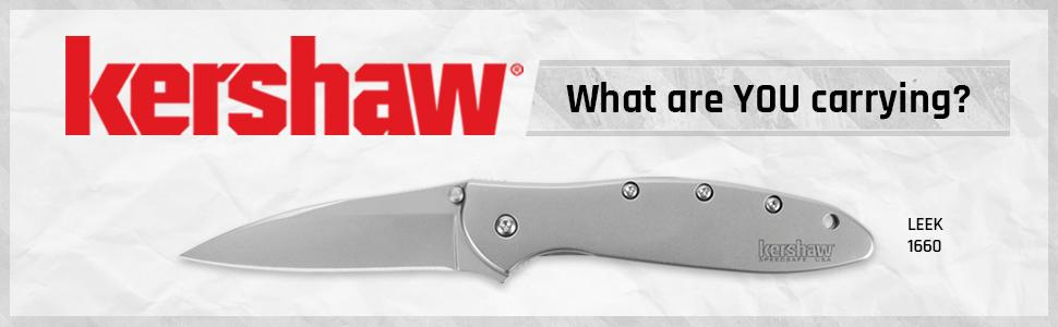 stainless knife;kershaw;leek;sleek;knifemaker;edc;every day carry;quality pocket knife;knives