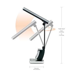 OttLite 383G53 13 watt HD SlimLine Task Lamp, Black Finish ...