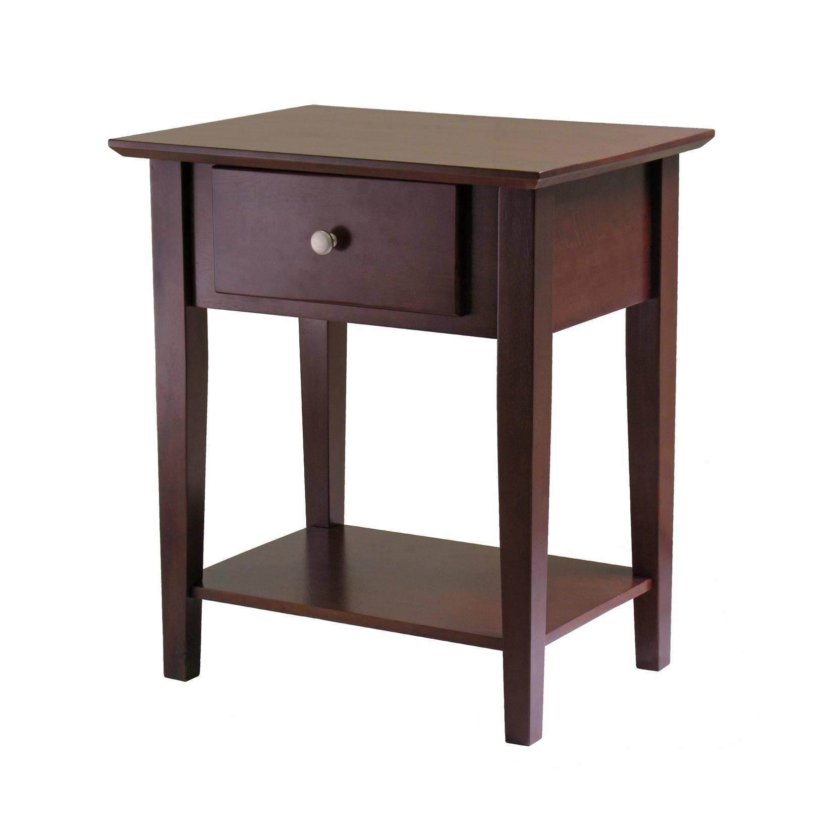 Amazon Winsome Wood Shaker Night Stand Antique Walnut Finish