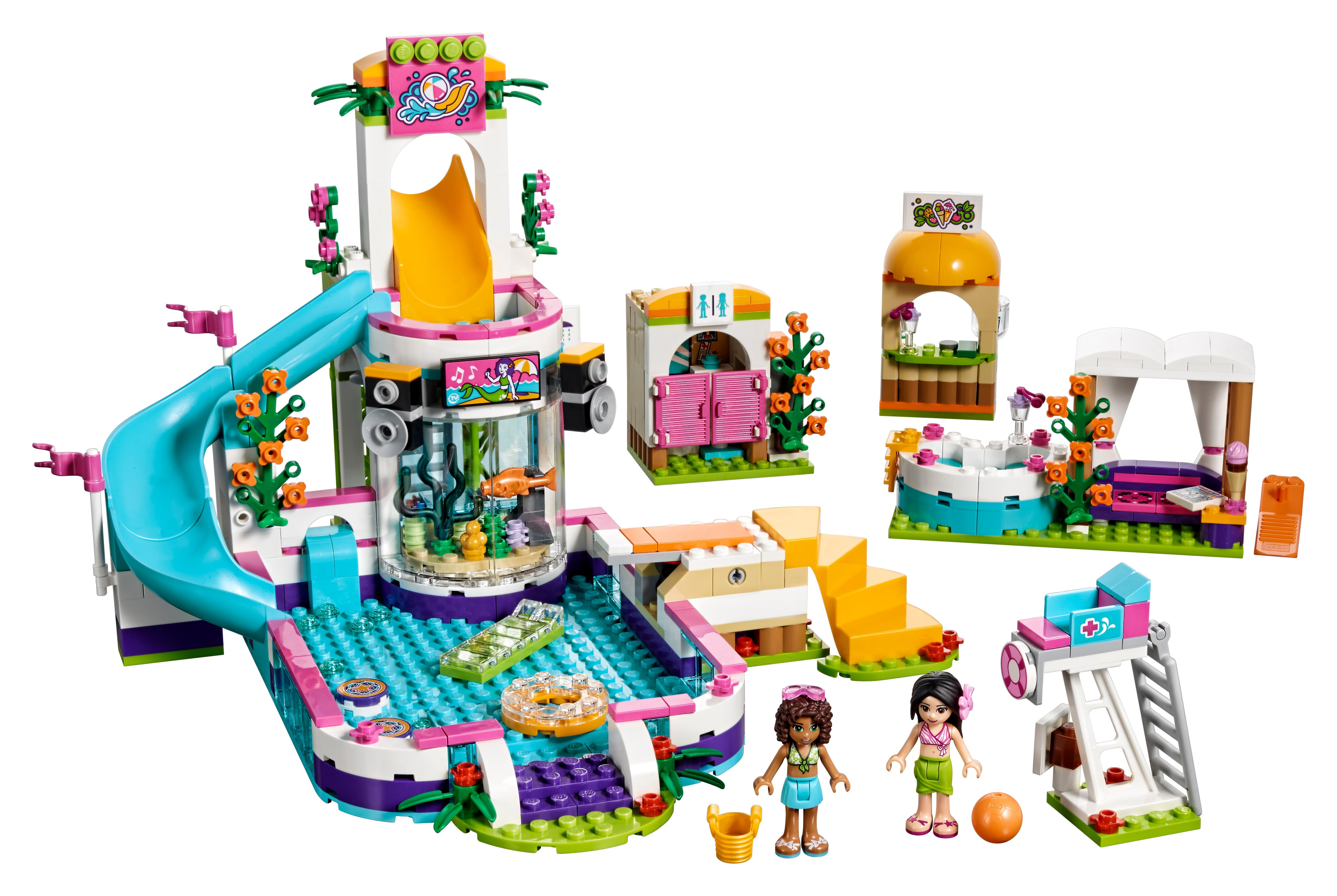 1 Toy For Ages 1 To 7 : Amazon lego friends heartlake summer pool new