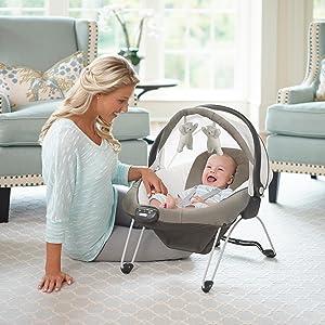 Amazon Com Graco Soothing System Baby Glider Abbington