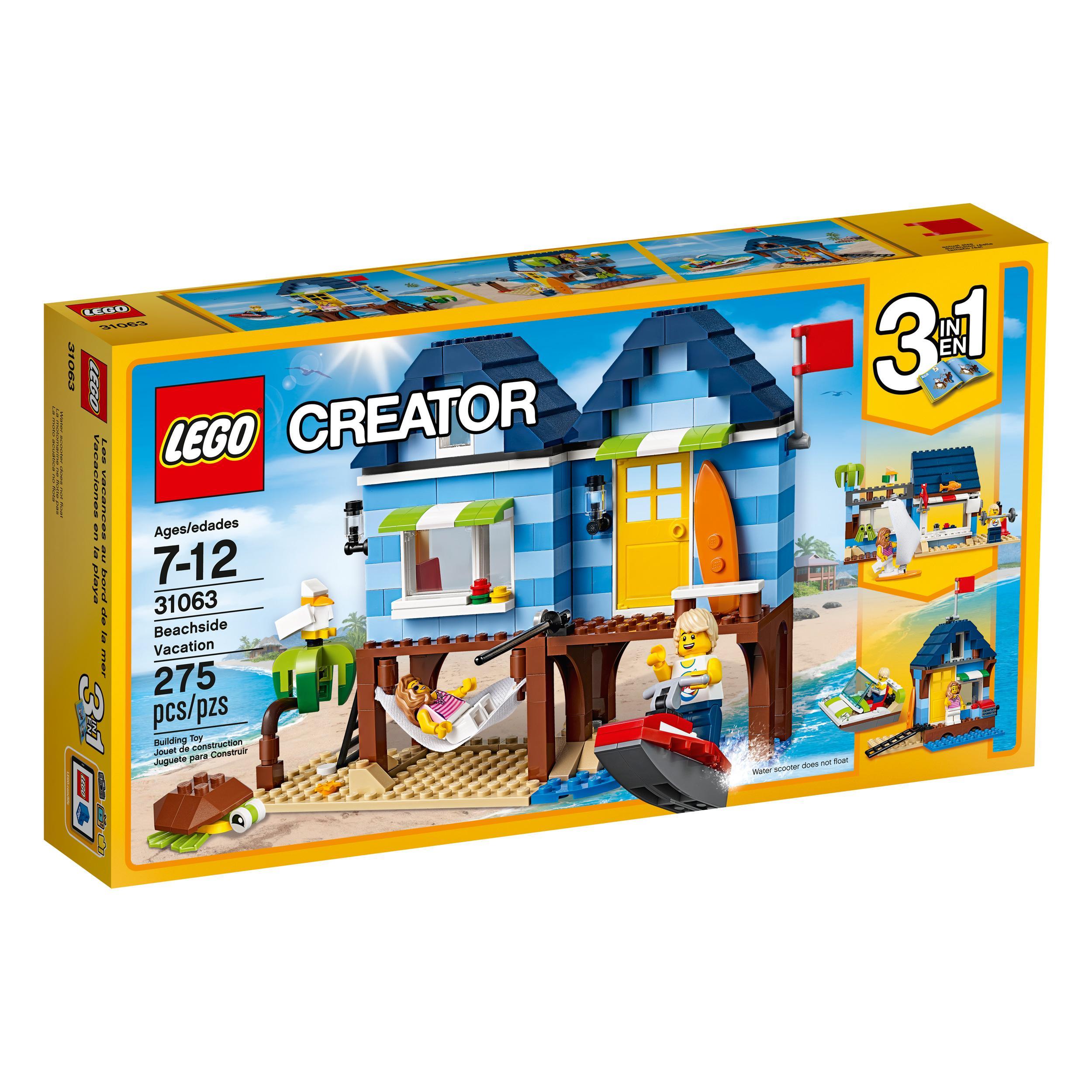 lego creator beachside vacation 31063 children. Black Bedroom Furniture Sets. Home Design Ideas