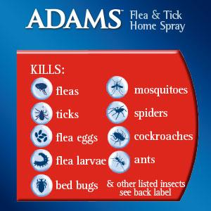 Adams Flea And Tick Spray Kill Bed Bugs