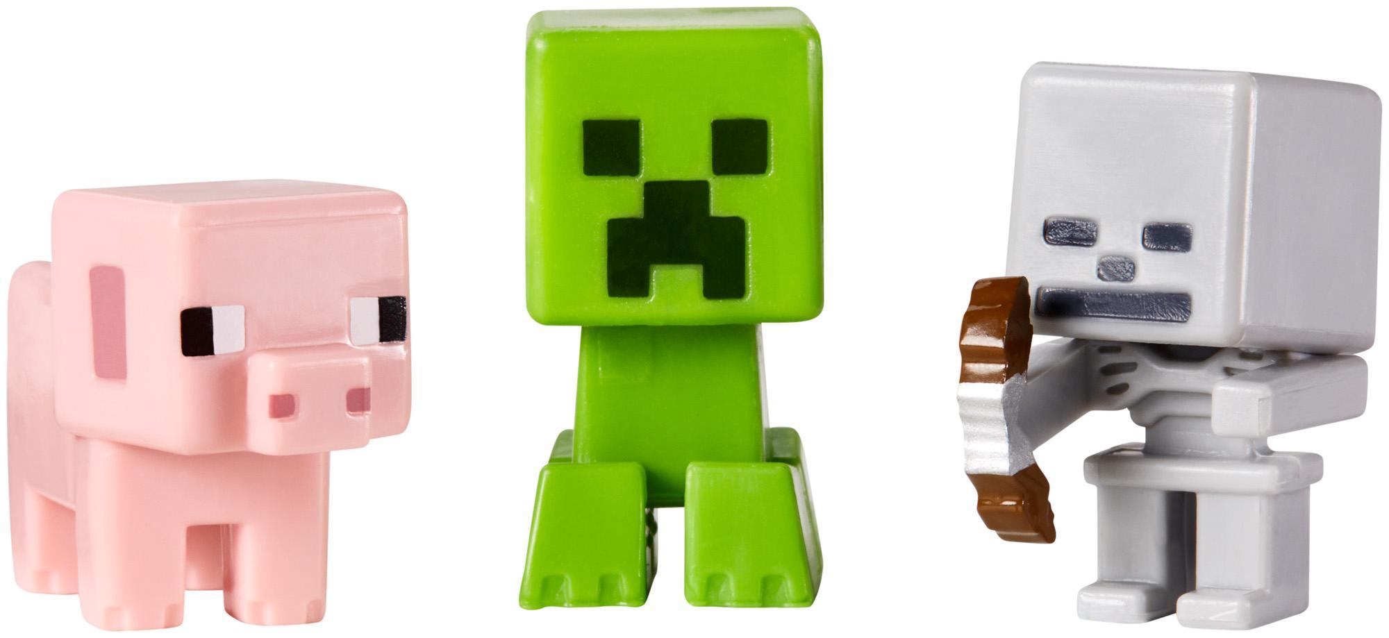 Amazon com minecraft collectible figures pig creeper amp skeleton 3