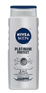 shower gel, silver protect, NIVEA MEN