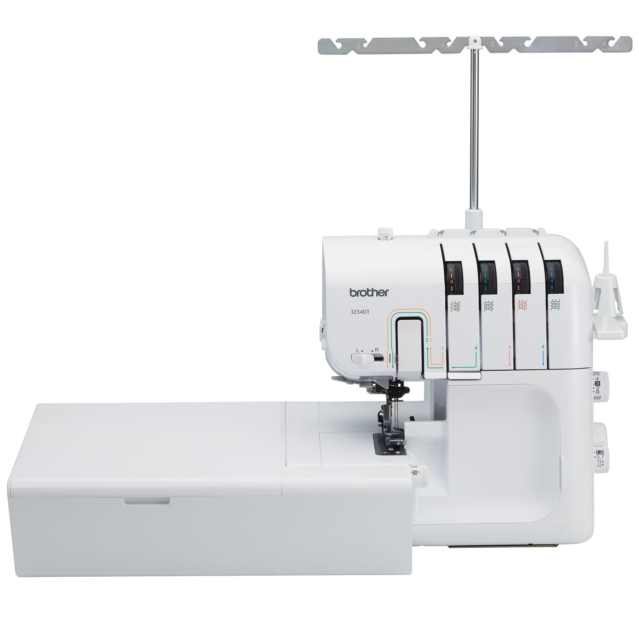 brother 3234dt 2 3 or 4 thread serger with differential feed. Black Bedroom Furniture Sets. Home Design Ideas