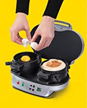 maker station 3in1 egg muffin pan west cooker bend toaster press cheese best rated reviews sellers