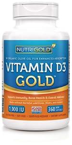 Vitamin D3 (1,000 IU)