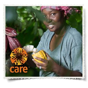 DOVE Chocolate partners with CARE to improve lives of women farmers and their families.