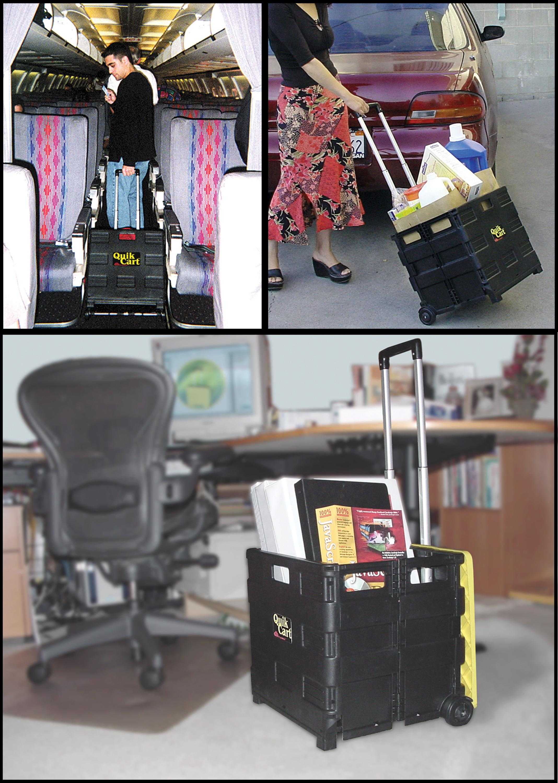 Amazon Com Ultra Compact Quik Cart Two Wheeled