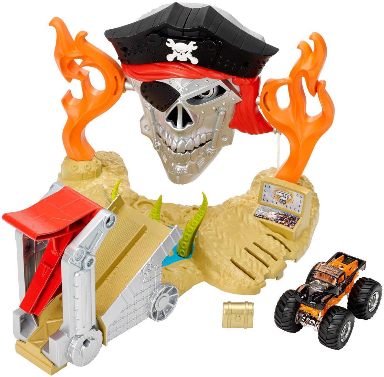 Hot Wheels Toys : Amazon hot wheels monster jam pirate takedown play