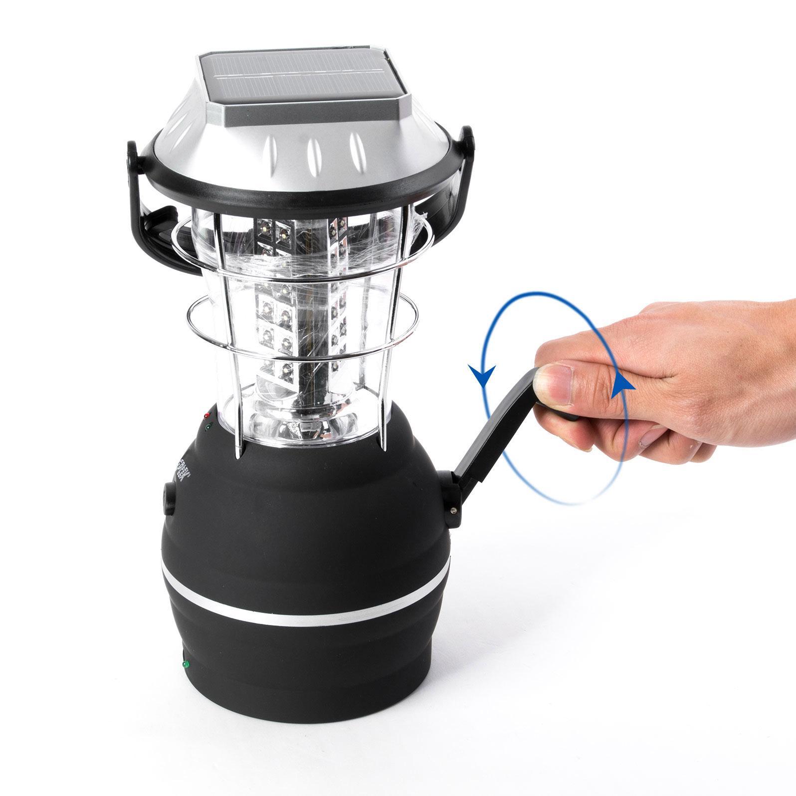 Amazon Com Solar Lantern Agptek 5 Mode Hand Crank